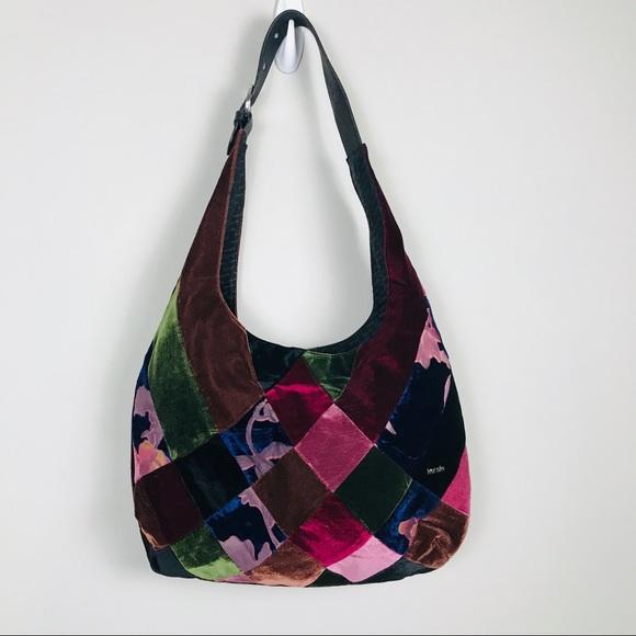 Kensie Handbags - Kensie Velvet Patchwork Purse Handbag